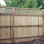 Timber Fence with Lattice