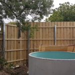 Timber Fence with Steel posts