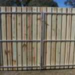 Double gates timber