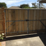 Double gates timber capped