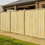 Exposed Timber Fence, With 125x125mm Cypress Pine Posts