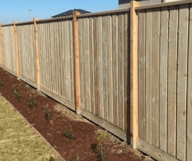 Capped Timber Fence